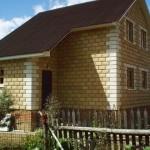 Пример дома построенного из теплоблока